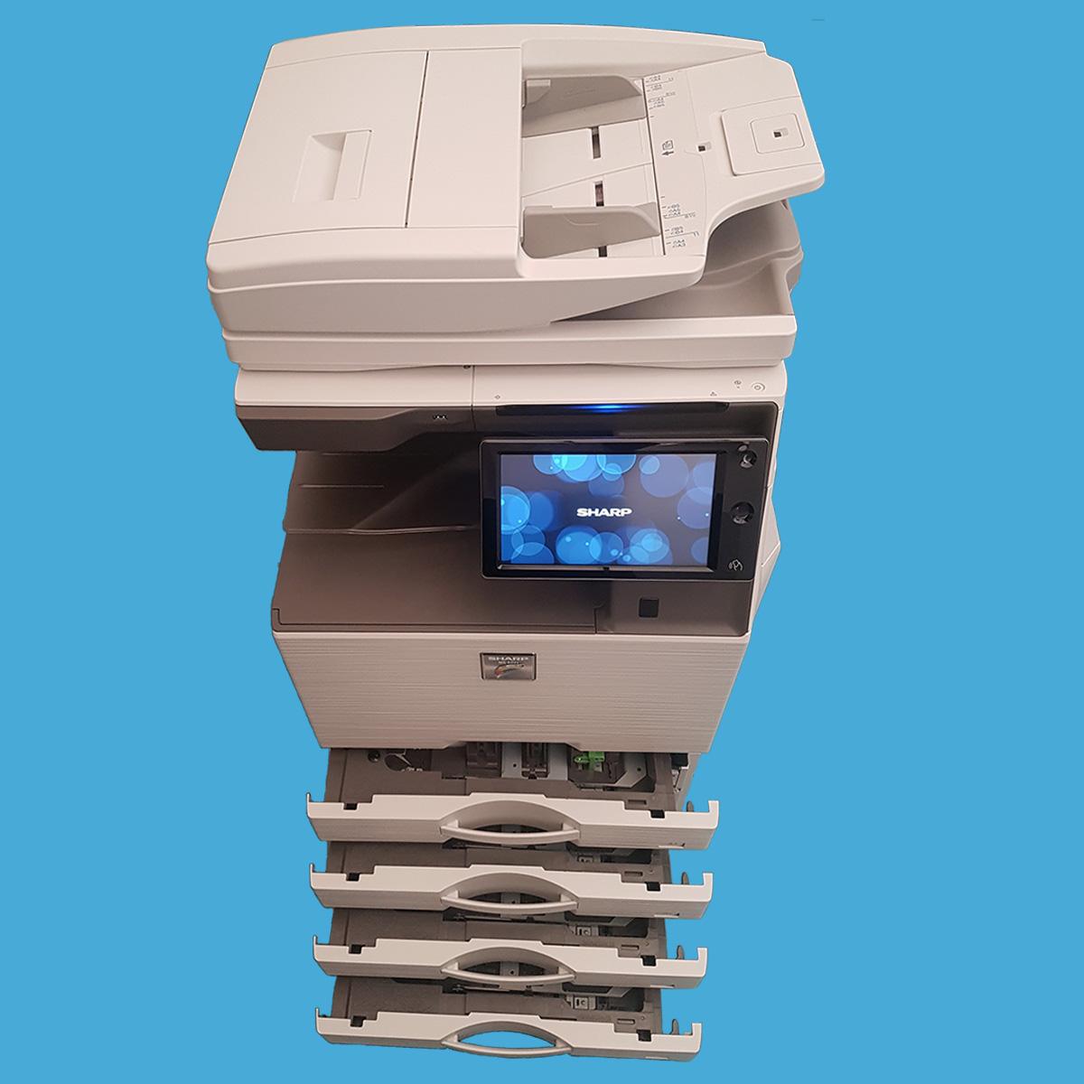Sharp-MX4071 fronte cassetti aperti - Stampante Multifunzione - b-one